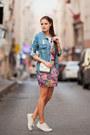 Blue-sheinside-jacket-pink-persunmall-skirt