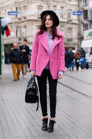 hot pink Sheinside coat