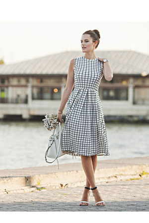 white Trecynni dress - white Rebecca Minkoff bag