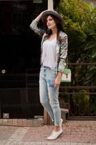 periwinkle Breakicetrends jeans - white Breakicetrends blazer