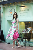 MINT DRESS WITH PINK ROSES
