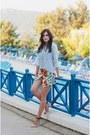 Periwinkle-stradivarius-shirt-white-iclothing-shorts