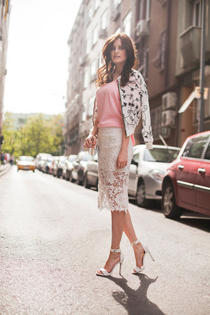 white BangGood skirt - white BangGood jacket