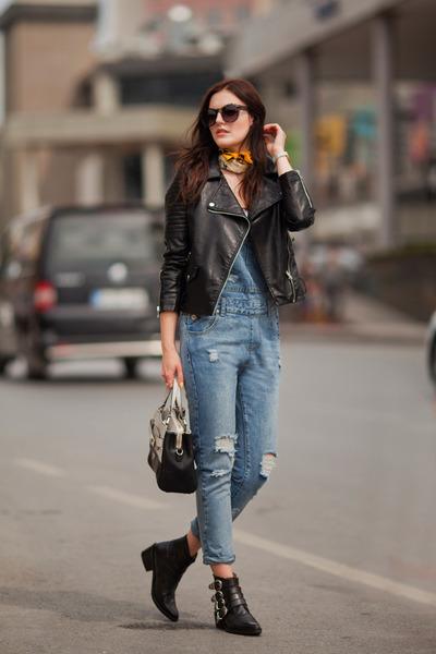 black romwe jacket - periwinkle romwe romper