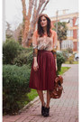Orange-sheinside-blouse-brick-red-zara-skirt