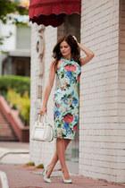 light blue AX Paris dress - white Rebecca Minkoff bag
