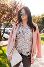 Heather-gray-bersh-jeans-pink-stradivarius-jacket-white-zara-bag