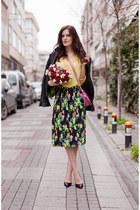 green asos skirt - yellow H&M blouse