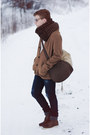 H-m-boots-zara-jeans-dark-brown-zara-scarf-zara-bag