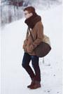 H-m-boots-zara-jeans-dark-brown-zara-scarf-zara-bag