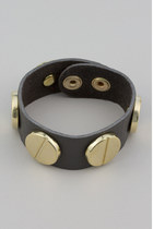 gray leather Vintage Modernism bracelet