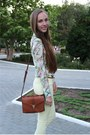 White-zara-blouse-brown-accessorize-bag-brown-stradivarius-heels