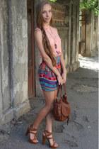 asos skirt - Bershka shirt - Bershka bag - Stradivarius heels