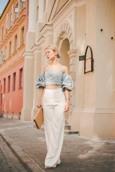 clutch straw Parfois bag - Zara pants - nude suede asos sandals - casio watch