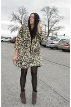 vintage coat - Steve Madden shoes - vintage dress - Elizabeth & James accessorie