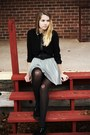 Black-tuk-shoes-ruby-red-forever-21-coat-heather-gray-forever-21-skirt