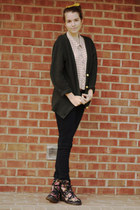 black floral Dr Martens boots