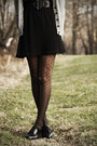 Black-forever-21-dress-silver-urban-outfitters-sweater-black-bass-heels