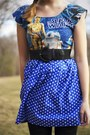 Navy-rusty-cuts-dress-black-bass-heels-black-forever-21-belt