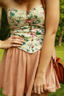 Light-pink-high-waisted-h-m-skirt