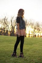 H&M skirt - Dr Martens boots - H&M hat
