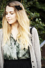 Silver-urban-outfiters-cardigan-teal-urban-outfitters-shirt