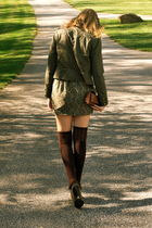 green Forever 21 jacket - brown Steven Madden socks - Urban Outfitters skirt - M