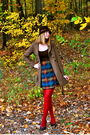 Red-dsw-tights-brown-shoes-brown-skirt-brown-forever-21-coat-brown-burli