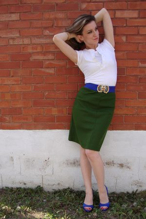 vintage skirt - Aldo shoes - vintage belt