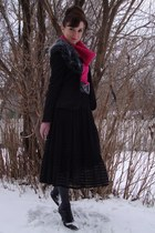 black Mexx jacket - hot pink Jacob sweater - black Max Studio skirt - black Stev