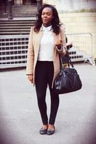 H&M Trend jacket - H&M Trend jumper - Mango pants - Topshop flats