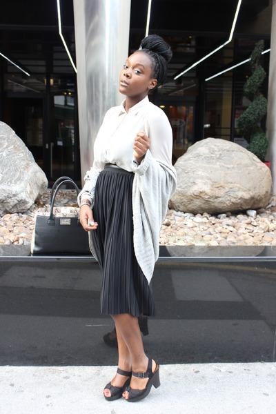 vera moda skirt - new look cardigan
