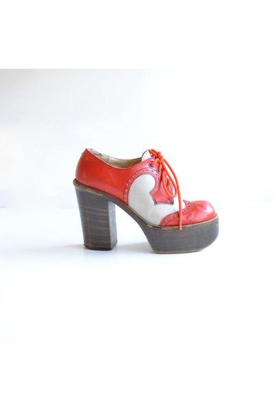 ruby red vintage heels