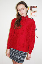 Silk Shirt Red Stefan Studio Blouses