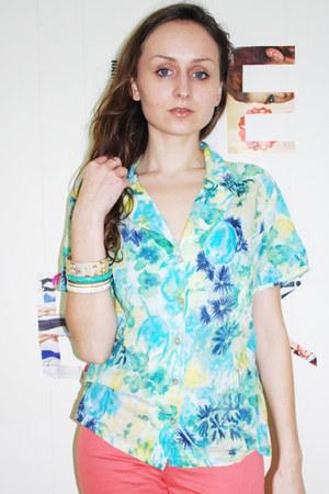 aquamarine Adini blouse