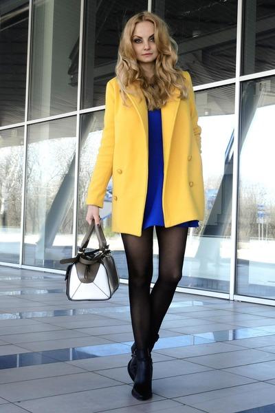 OASAP coat - Choies boots - David Lerner dress - asos bag