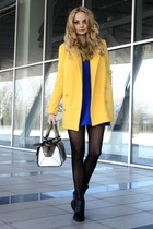 OASAP coat - Choies boots - David Lerner dress - asos bag