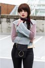 Teal-zaful-sweater-dark-gray-dresslily-bag