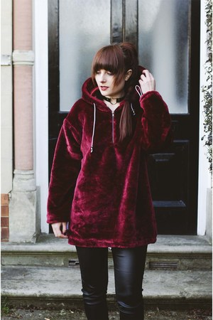crimson velvet hoodie sammydress hoodie