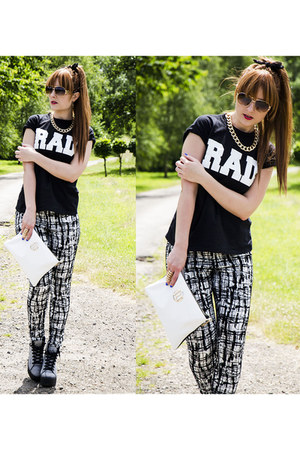 River Island bag - Topshop boots - Republic pants - River Island necklace