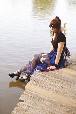 blue StyleWe dress - black Topshop wedges