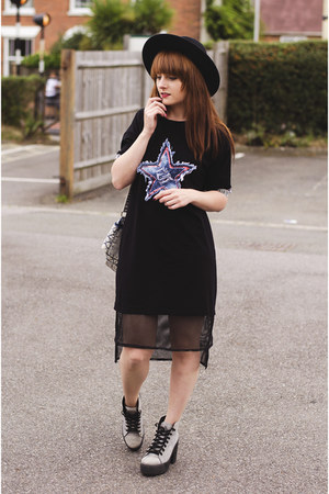 black Rosegal dress - teal jeans new look bag