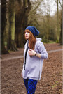 Blue-blue-lesara-hat-silver-gray-warm-lesara-jumper
