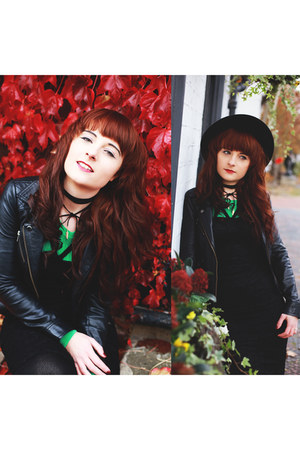 black Wearall dress - black black choker GAMISS necklace