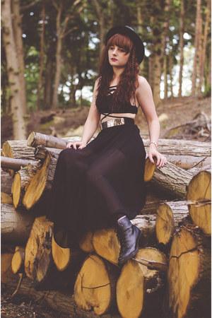 black black Rosegal skirt - black sammydress top