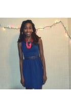 blue H&M dress - white thrifted dress