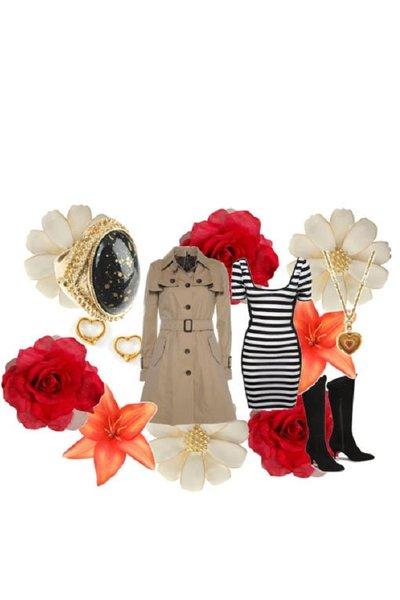 black Miss Selfridge dress - brown Top Shop coat - black delman boots - gold 192