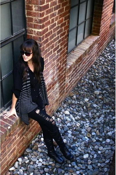 black Anouk boots - black Forever 21 jeans