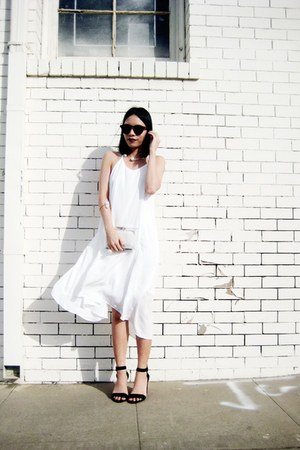 white Sheinside dress - white BangGood accessories