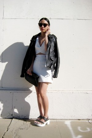 white Fashion Union dress